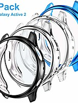 cheap -4-pack tpu case compatible for galaxy watch active 2 40mm, full protective screen protector bumper case cover compatible for samsung galaxy watch active 2, black+blue+clear+silver