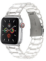 cheap -Strap for Apple Watch Band 44/40mm IWatch Band 42/38mm Transparent Belt Resin Bracelet for Apple Watch Series 6 5 4 3 2 1
