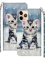 cheap -Case For Apple iPhone 12 / iPhone 12 Mini / iPhone 12 Pro Max Wallet / Card Holder / with Stand Full Body Cases Animal PU Leather