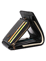 cheap -Travel Wallet Document Organizer Card Holder Anti-theft RFID Blocking Everyday Use Security Genuine Leather Classic Vintage Gift For Men's Women's 11.8*6*2 cm