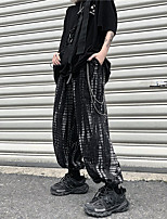 cheap -Women's Basic Streetwear Outdoor Loose Daily Jogger Pants Print Full Length Black