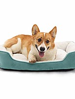 cheap -dog beds for small and medium dogs or cats, soft durable warming pet bed machine washable with non-slip bottom and reinforced edges, blue