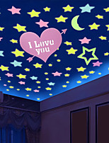 cheap -Stars Wall Stickers Luminous Wall Stickers Decorative Wall Stickers, Silica Gel Home Decoration Wall Decal Window Decoration 5pcs / 100pcs
