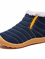 cheap -boys girls winter outdoor boots waterproof slip on fur lined snow boot blue 3 m us big kid