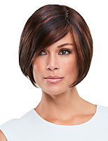 cheap -Synthetic Wig kinky Straight Bob Side Part Lace Front Wig Short Brown Synthetic Hair 6 inch Women's Fashionable Design Exquisite Fluffy Brown