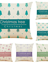 cheap -Set of 6 Polka Dot Christmas Linen Square Decorative Throw Pillow Cases Sofa Cushion Covers 18x18