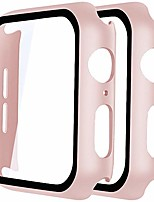 cheap -[2-pack]  compatible with apple watch series 5 series 4 40mm case with built-in tempered glass screen protector hard pc case overall protective cover for iwatch series 5/4 pink, 40mm