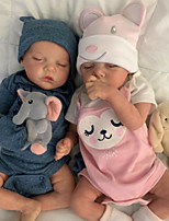 cheap -17 inch Reborn Doll Baby & Toddler Toy Baby Girl Reborn Baby Doll lifelike Hand Made Simulation Hand Applied Eyelashes Floppy Head Cloth Silicone Vinyl with Clothes and Accessories for Girls