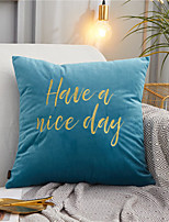 cheap -Classic Letter Embroidery Simple Style Pillow Case Cover Home Office Fashion Pillow Case Cover Living Room Bedroom Sofa Cushion Cover