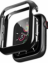cheap -soft tpu case 38mm compatible with apple watch with built-in tempered glass screen protector, rugged slim bumper cases overall protective cover for iwatch series 3/2/1 black