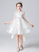 cheap -Princess Cosplay Costume Masquerade Girls' Movie Cosplay A-Line Slip Vacation White Dress Halloween Children's Day Masquerade Polyester Organza