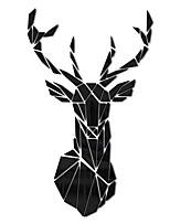 cheap -26*43cm Geometric Deer Head Acrylic Mirror Stickers Hunting Modern Home Decor Antler Deer Head Wall Art Stickers Decal Deer Hunters Gift
