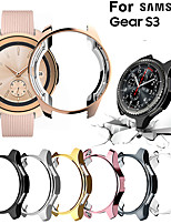 cheap -Screen Protector Case for Samsung Gear S3 TPU Rugged Bumper Case Cover All-Around Protective Plated Bumper Shell Accessories Scratch-Proof Compatible