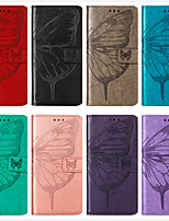 cheap -Case For Samsung Scene Map Samsung Galaxy S20 S20 Plus S20 Ultra Note 20 Note 20 Ultra embossed butterfly pattern PU leather card holder all-inclusive phone case