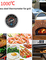 cheap -New Stainless Steel Grill Smoker for BBQ Temperature Meter 0-1000  Night Fluorescent Degree Celsius Stainless Steel BBQ Therm