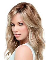 cheap -Synthetic Wig Curly Water Wave Asymmetrical Middle Part Wig Medium Length Light Brown Silver grey Synthetic Hair Women's Fashionable Design Exquisite Silver