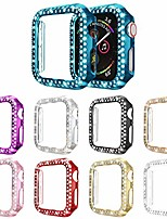 cheap -[9-pack] bling case compatible with apple watch 42mm series 3 2 1 protector, shiny rhinestones diamonds cover hard pc bumper for women girl (9 colors, 42mm)