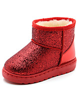cheap -Boys' / Girls' Boots Snow Boots PU Little Kids(4-7ys) / Big Kids(7years +) Walking Shoes Black / Red / Pink Fall / Winter / Booties / Ankle Boots