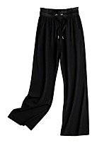 cheap -Women's Comfort Loose Daily Pants Chinos Pants Solid Colored Full Length Drawstring High Waist Black Beige