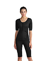 cheap -full body sauna suit waist trainer corset trimmer bodysuit with belt for weight loss women