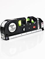 cheap -Laser Level Horizon Vertical Measure 8FT Aligner Standard and Metric Rulers Multipurpose Measure Level Laser Black