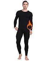 cheap -thermal underwear for men long johns set fleece lined ultra soft black xx-large