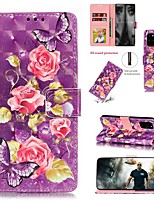 cheap -Case For Samsung Galaxy Galaxy S20 FE 5G / S20 Plus / S20 Ultra Wallet / Card Holder / with Stand Full Body Cases Flower PU Leather
