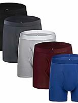 cheap -mens underwear boxer briefs cotton stretch regular long leg boxer briefs underwear men pack