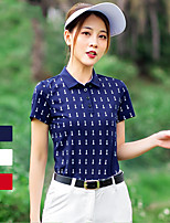 cheap -Women's Golf Polo Shirts Short Sleeve Breathable Quick Dry Soft Sports Outdoor Autumn / Fall Spring Summer Cotton White Red Royal Blue / Stretchy