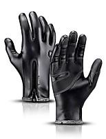cheap -Winter Gloves Women's Men's Snowsports Full Finger Gloves Winter Waterproof Windproof Breathable PU Leather Winter Sports