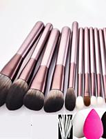 cheap -12 Pcs makeup brush set small grape makeup brush set soft bristles brush