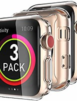cheap -3 pack iwatch screen protector case clear tpu all around case accessories shockproof compatible with apple watch series se/6/5/4/3/2/1, 38mm 42mm 40mm 44mm(40mm)