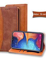 cheap -Case For Samsung Galaxy Note 10 Plus Wallet Card Holder with Stand Full Body Cases Solid Colored PU Leather Galaxy A10E A20E A30S A40 A50 A70 A80 A90 S8 S9 Plus S10E Note 9