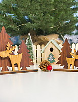cheap -Wooden Christmas Tree Elk Stitching Ornaments