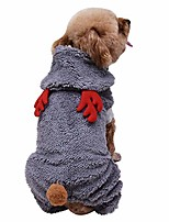 cheap -pet dog christmas costumes cute reindeer for small medium dogs cats sweater winter sweatshirt fleece outfits warm coat ugly sweater.