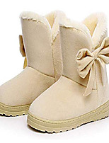 cheap -women's winter suede snow ankle boots faux fur flat warm shoes (4.5 b(m) us, beige)