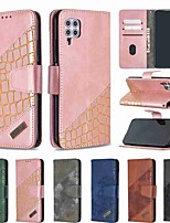 cheap -Case For Huawei Huawei nova 4e / Huawei P30 Lite / Honor 10 Lite Wallet / Card Holder / Shockproof Full Body Cases Lines / Waves PU Leather / TPU