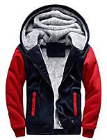 cheap -men's pullover winter workout fleece hoodie jackets full zip wool warm thick coats