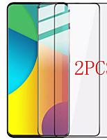 cheap -2Pcs SAMSUNG Screen Protector Galaxy A71 5G / A51 4G / A70S / A80 / A90 / A10E / A20 / A30 / A40 / A50 / A60 / A01 / A42 High Definition (HD) Front Screen Protector Tempered Glass Silk Screen