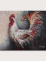 cheap -Oil Painting Hand Painted - Abstract Animals Vintage Modern Rolled Canvas (No Frame)