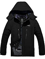 cheap -men's ski rain jacket waterproof snow sportswear winter coat black 2xl