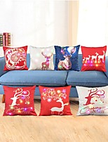 cheap -7pcs Christmas Led Pillow Elk And Elderly Cute Cushion Office Car Sofa Cushion Cover 3AA Batteries not included