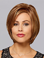 cheap -Synthetic Wig Straight Asymmetrical Wig Short Light Brown Dark Brown Blonde Synthetic Hair Women's Fashionable Design Exquisite Blonde Dark Brown