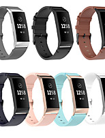 cheap -Watch Band for Fitbit Charge 3 / Fitbit Charge 4 Fitbit Business Band Genuine Leather Wrist Strap