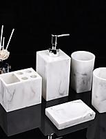 cheap -Bathroom Accessories Set 5 Piece Ceramic Complete Bathroom Set for Bath Decor Includes Toothbrush Holder Soap Dispenser Soap Dish 2 Mouthwash Cup  Holiday Bathroom Decoration Gift Idea