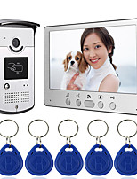 cheap -Wired 7 Inch Hands-free Monitor Video Doorphone Intercom with Infrared Night Vision Camera