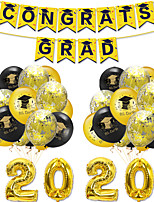 cheap -Party Balloons 24 pcs Happy Graduation Party Supplies Latex Balloons Banner Boys and Girls Party Decoration 32 Inch+12 Inch for Party Favors Supplies or Home Decoration