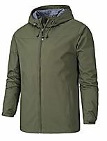 cheap -men's lightweight windbreaker winter jacket water resistant zipper pockets hooded coat outwear, amy green, tagsizexl=ussizem