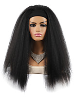 cheap -Hair Band Headband Wig Headgear Corn Whisker Hair Band Wig Headgear Headband 24 inches Long Hair Black Micro-volume Fluffy Headgear Random Color Headband