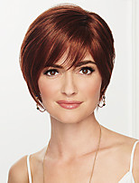 cheap -Synthetic Wig kinky Straight Bob Asymmetrical Wig Short Ash Brown#8 Synthetic Hair 6 inch Women's Fashionable Design Exquisite Comfy Brown